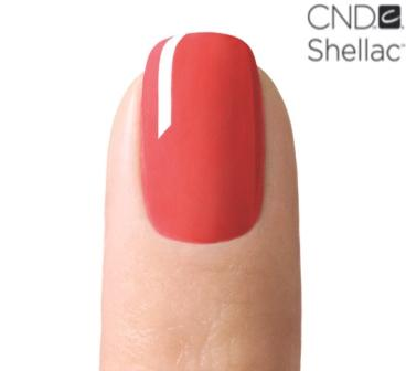 Image of CND Shellac painted nail